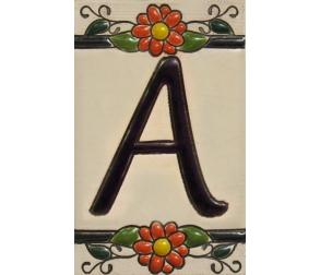 Ceramic tile letter A