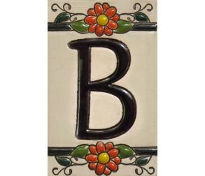 Ceramic tile letter B