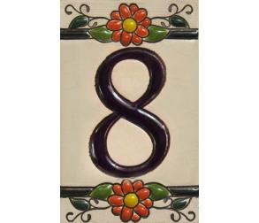 Ceramic tile number 8