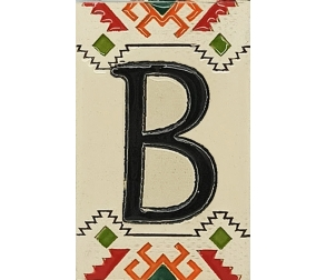 Ceramic Number Ethno Letter B