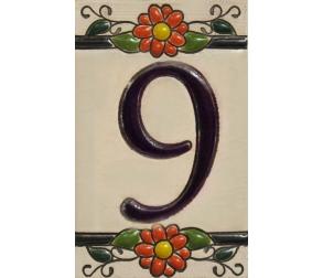 Ceramic tile number 9