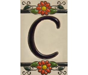 Ceramic tile letter C